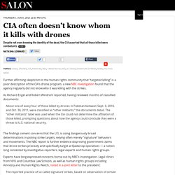 CIA often doesn't know who it kills with drones