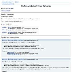 OFX: OfxTimeLineSuiteV1 Struct Reference