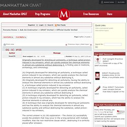 Manhattan GMAT Forum