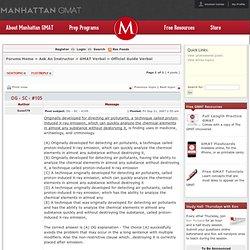 Manhattan GMAT Forum