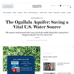 The Ogallala Aquifer: Saving a Vital U.S. Water Source