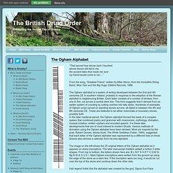The Ogham Alphabet - The British Druid Order