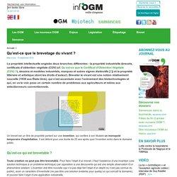 OGM et brevets sur le vivant