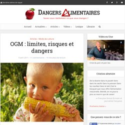 OGM : limites, risques et dangers