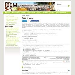 2 - OGM et santé