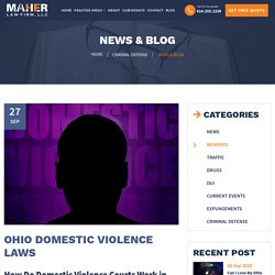 Ohio Domestic Violence Laws - Maher Law Firm