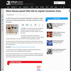 Ohio House panel OKs bill to repeal Common Core