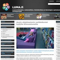 LUMA.fi: Avoin ohjelmoinnin verkkokurssi kaikille kiinnostuneille