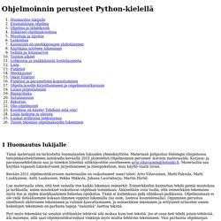 Ohjelmoinnin perusteet Python-kielellä