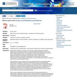 Ohjelmointi osana medialukutaitoa - Koodikoulu ilmiönä Suomessa