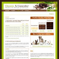 Oignon & Chocolat - Studio de design graphique - Tarifs