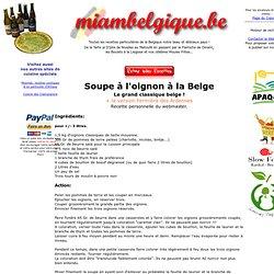 Soupe à l'oignon à la Belge, recette du site www.miambelgique.be