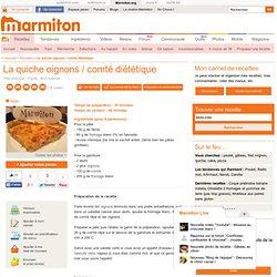 La quiche oignons / comté diététique - Recette de cuisine Marmiton : une recette