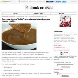 """Sauce aux oignons"""" brûlés"""" et au vinaigre balsamique pour viandes ou pâtes"""