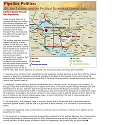 Oil - Central Asian Pipelines