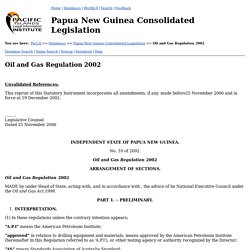 Oil and Gas Regulation 2002