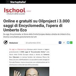 Online e gratuiti su Oilproject i 3.000 saggi di Encyclomedia, l'opera di Umberto Eco