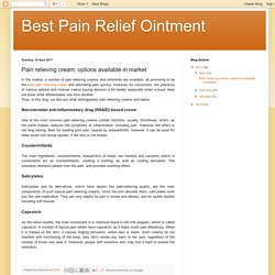 Pain relieving cream: options available in market