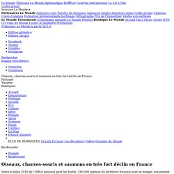 Oiseaux, chauves-souris et saumons en très fort déclin en France