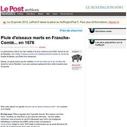 Pluie d'oiseaux morts en Franche-Comté... en 1676 - Besacontin sur LePost.fr