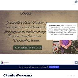 """""""Chants d'oiseaux"""" par Benoit Louriou (académie de Montpellier)"""
