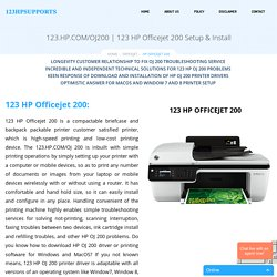 123 HP Officejet 200 Setup & Install