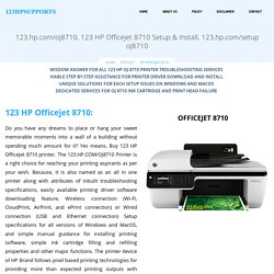 123 HP Officejet 8710 Setup & Install