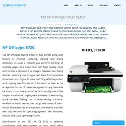123.hp.com/oj8720 - HP Officejet 8720 Install & Setup