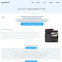 123.hp.com/ojp7740 Setup HP Officejet Pro 7740 Print and Scan setup