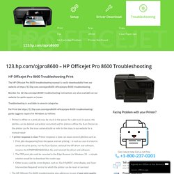 123.hp.com/ojpro8600 - HP Officejet Pro 8600 Wifi Printer Troubleshooting