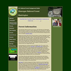 Okanogan National Forest Campgrounds