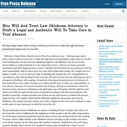 Will and Trust Law in Oklahoma by Davisudoka