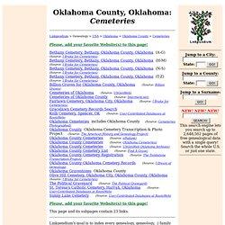 Oklahoma County, Oklahoma: Cemeteries