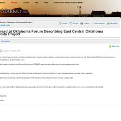 New Thread at Oklahoma Forum Describing East Central Oklahoma Community Project