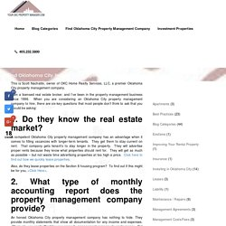 Find the best Oklahoma City Property Management Company.