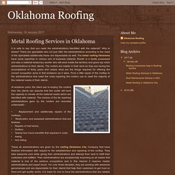 Oklahoma Roofing: Metal Roofing Services in Oklahoma