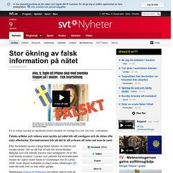 Stor ökning av falsk information på nätet