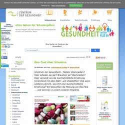 Öko-Test über Vitamine