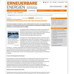 Schweiz ist Schlusslicht bei der Ökostromproduktion - Solarenergie