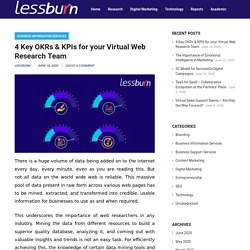 4 Key OKRs & KPIs for your Virtual Web Research Team – lessburn