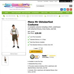 Mens Mr Oktoberfest Costume - Fancy Dress and Party
