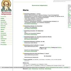 Maria - Ökumenisches Heiligenlexikon