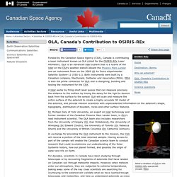 OLA, Canada's Contribution to OSIRIS-REx