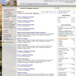 OLAC Language Resource Catalog