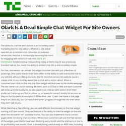 Olark Is A Dead Simple Chat Widget For Site Owners