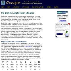 Old English / Anglo-Saxon