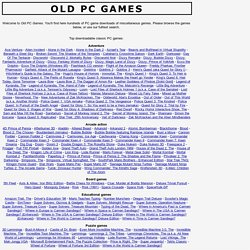 Old PC Games - homepage