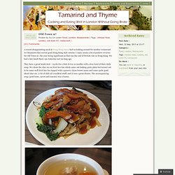 Tamarind and Thyme