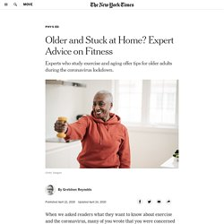 Older and Stuck at Home? Expert Advice on Fitness