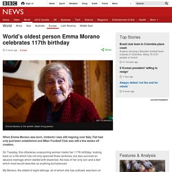 World's oldest person Emma Morano celebrates 117th birthday